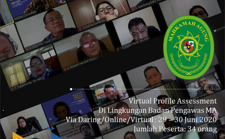 Virtual Profile Assessment Virtual Profile Assessment Di Lingkungan BAWAS; 29 – 30 Juni 2020